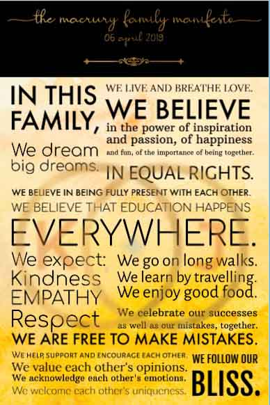 family statement examples