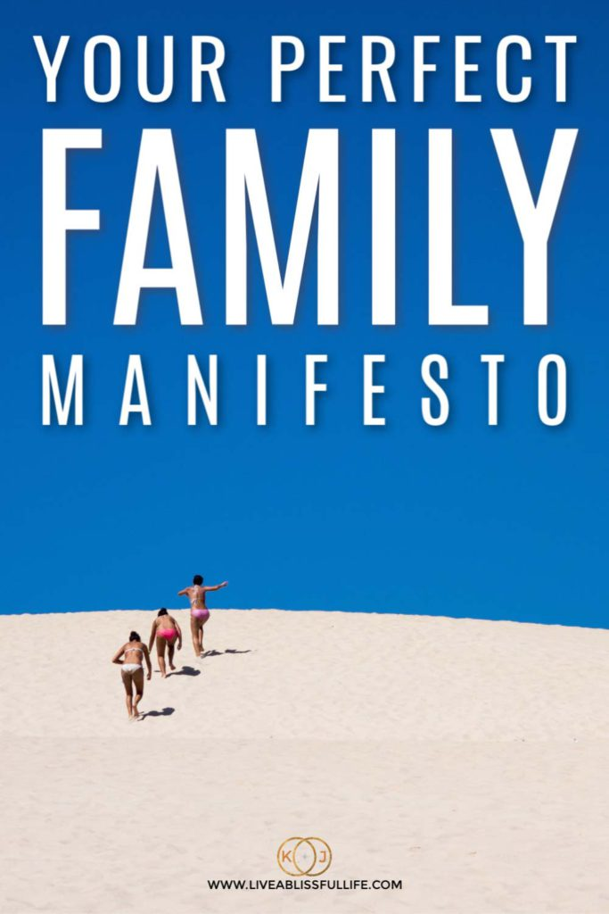 background: 3 women climbing a sand dune foreground: your perfect family manifesto