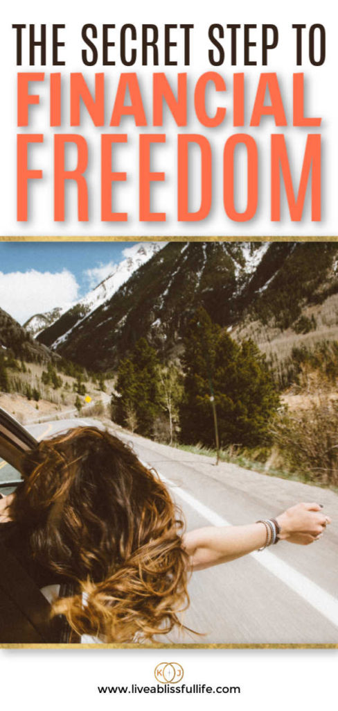 text: the secret step to financial freedom image: woman with her head out of a car window
