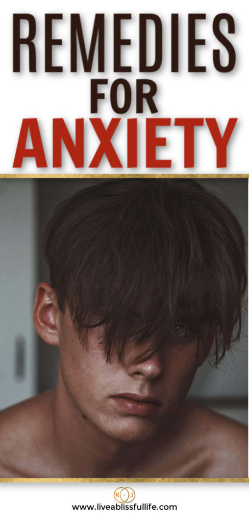text: remedies for anxiety image: handsome man looking straight at the camer