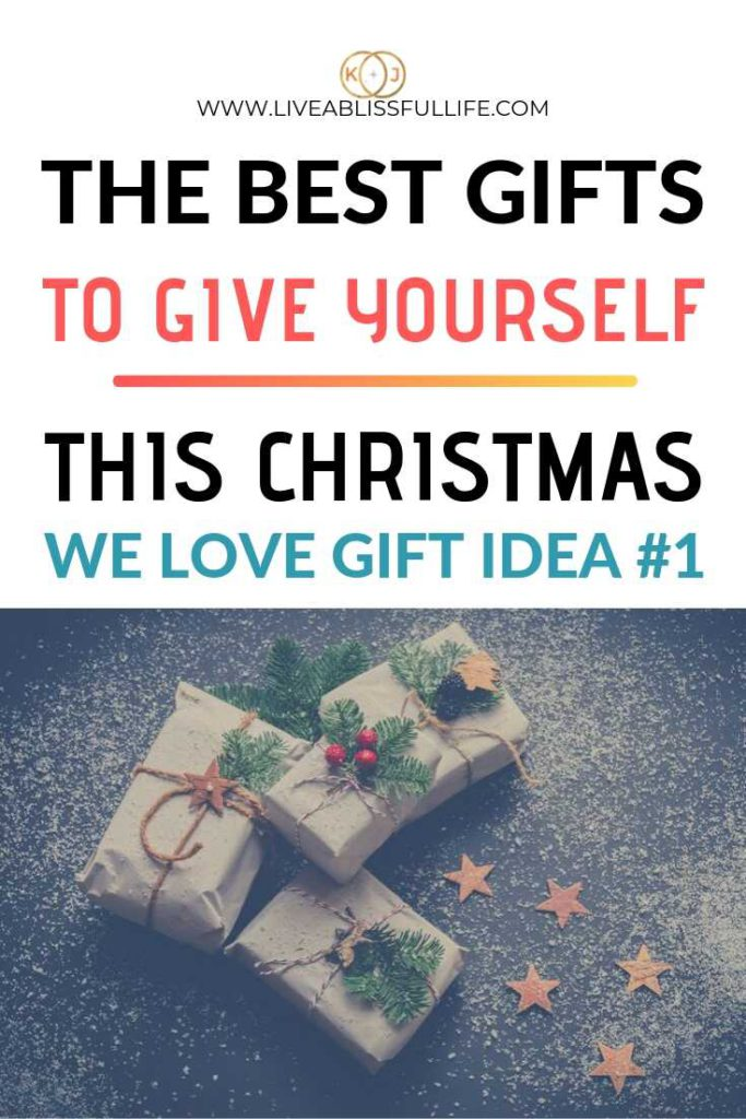 Image: a collection of Christmas gifts wrapped in brown paper Text: The Best Gifts To Give Yourself This Christmas (We love gift idea #1)