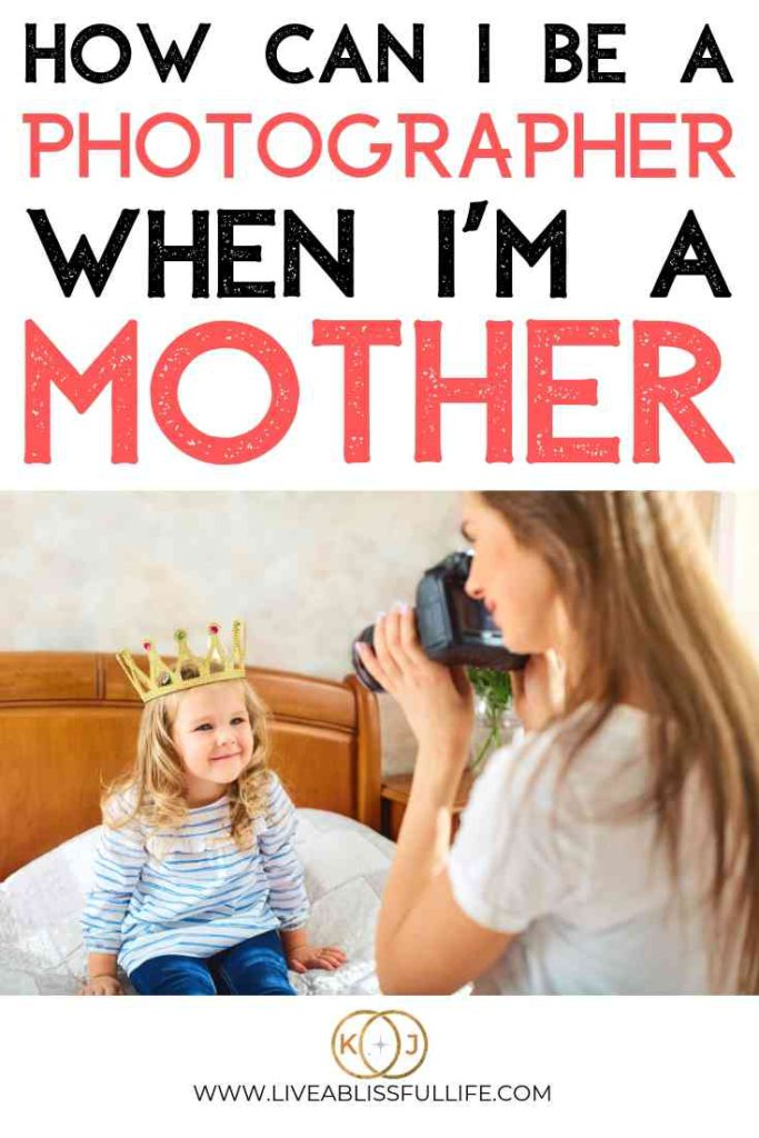 image: woman taking a photo of a young girl text: how can I be a photographer when I'm a mother
