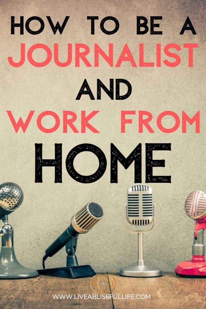 text: how to be a journalist and work from home image: different types of microphones