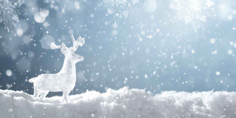 deer ice sculpture - when should you start planning for christmas