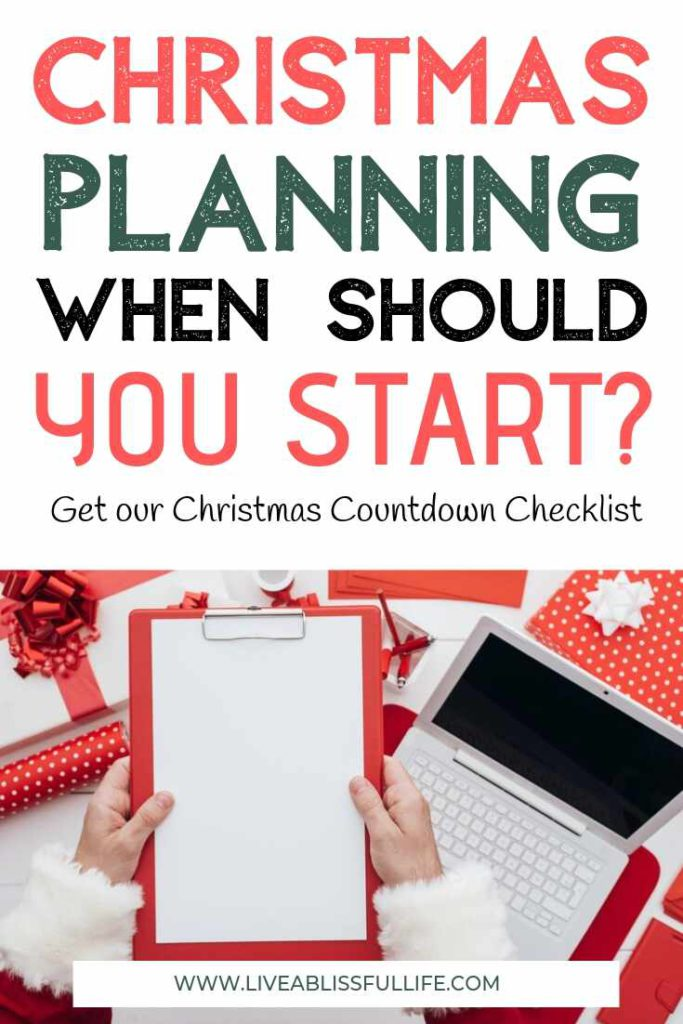 Image: White laptop surrounded by gifts wrapped in red and white Text: Christmas Planning: When Should You Start?