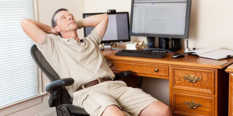 old man sitting in front of a computer - Working From Home Is Not Just For Young Adults
