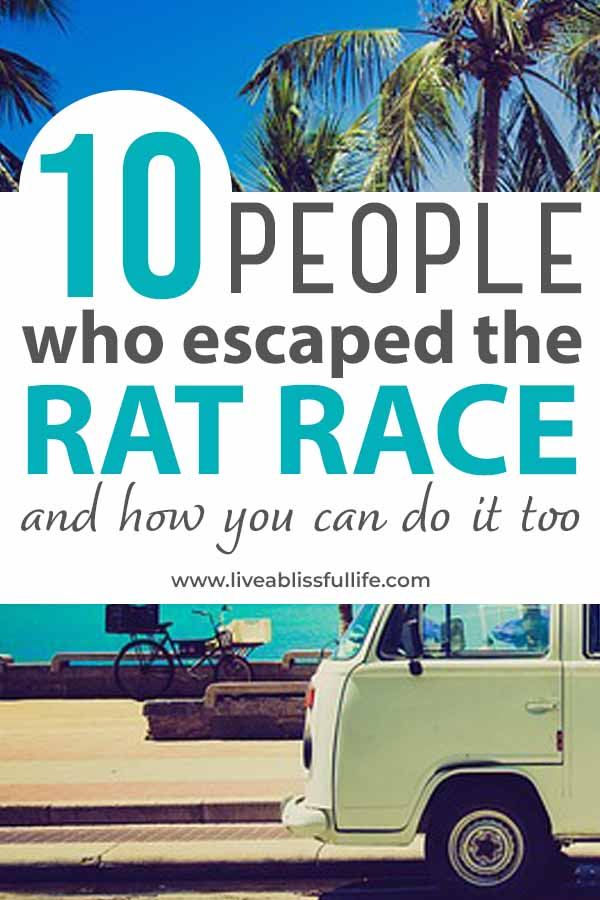 Image: RV by the sea Text: 10 people who escaped the rat race and how you can do it too