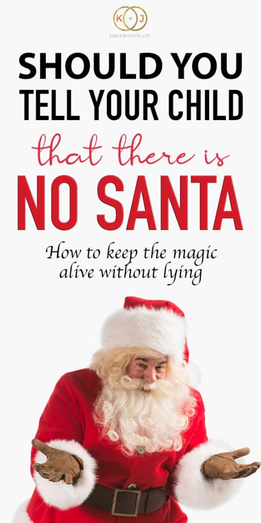 Image: santa Text: Should you tell your child taht there is no Santa? How to keep the magic alive without lying